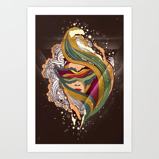 Triangular dream Art Print