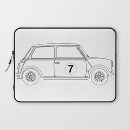 Compact Saloon Outline Drawing Laptop Sleeve