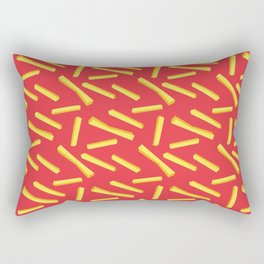 French Fries & Ketchup Pattern Rectangular Pillow