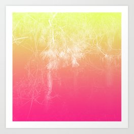 Flaming Forest Art Print