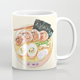 Ramen Pugs Watercolor Coffee Mug