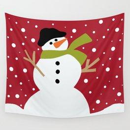 Cute snowman Wall Tapestry
