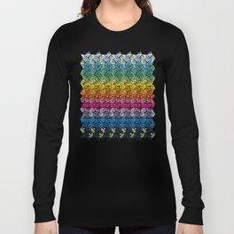 Escher Fish Rainbow Pattern Long Sleeve T-shirt