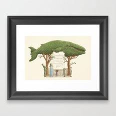 The Night Gardener - Whale Display  Framed Art Print
