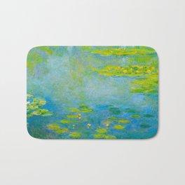 Claude Monet Impressionist Landscape Oil Painting Water Lilies Bath Mat