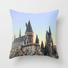 Castle at Sunset Throw Pillow