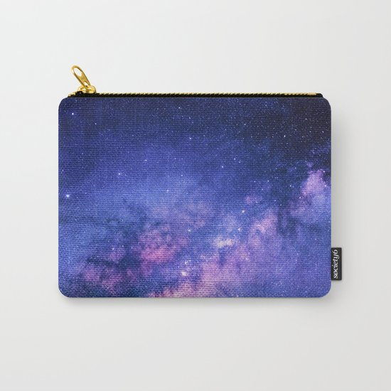 Galaxy, Blue Purple Night Sky, Universe Carry-All Pouch