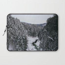 Winter in Quechee Gorge, VT Laptop Sleeve