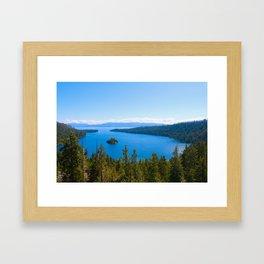 Emerald Bay Overlook Framed Art Print