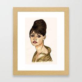 Penelope Cruz Framed Art Print