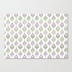 Pretty Leaves all in a Line Canvas Print