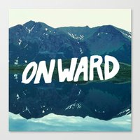 onward Canvas Prints featuring Onward by Good Sense