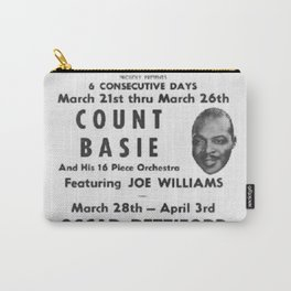 Vintage Birdland Jazz Club Count Basie Orchestra Concert NYC Broadway Advertising Poster Carry-All Pouch