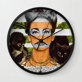 """""""Self Portrait with Thorn Necklace"""" & Joan Crawford Wall Clock"""