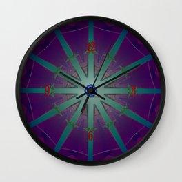 Clock face metallic Wall Clock