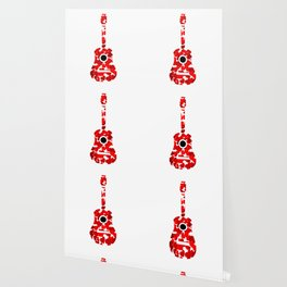 Guitar with red hearts- musical valentine gifts Wallpaper