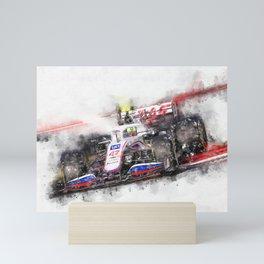 Mick Schumacher Haas 2021 Mini Art Print