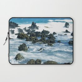Tropical Turquoise Ocean Waves With Epic Rocks Laptop Sleeve