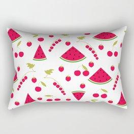 Pattern watermelon cherry raspberry currant Rectangular Pillow