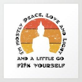 5cfd70e9df5bf Yoga Buddha Meditation Sarcasm Sarcastic Art Print