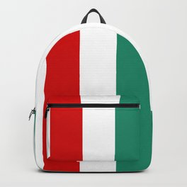 Large Peppermint Stick Stripes | Red Green and White | Vertical  Backpack