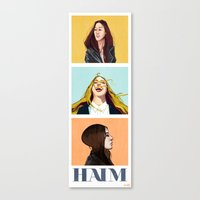 haim Canvas Prints featuring HAIM by James Bousema