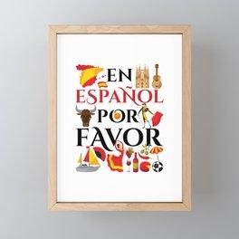 Spanish Teacher En Espanol Por Favor Framed Mini Art Print