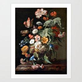 Still Life Flower Painting by Rachel Ruysch Art Print