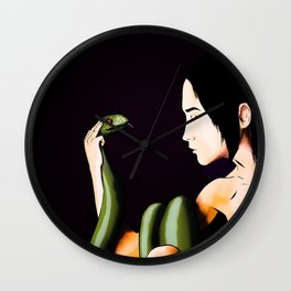 Woman with Serpent Wall Clock