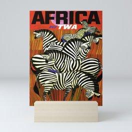 retro Africa Mini Art Print