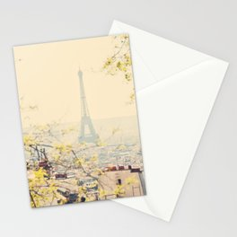 the Eiffel tower from atop Montmartre, Paris ... Stationery Cards