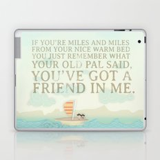 Buzz and Woody.. wou've got a friend in me pirate poster Laptop & iPad Skin