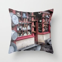 Victorian Stores Throw Pillow