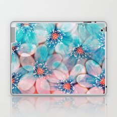 Flowers from Pink to Turquoise Laptop & iPad Skin