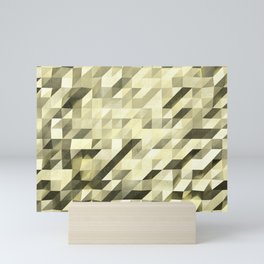Slanted Squares - Sand - Modern Angular Pattern Mini Art Print