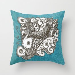 Sharpie Fish Throw Pillow