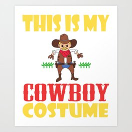 Cowboy fanatics and cowboy lovers, here is a western and creative tee for you! Claim your howdy now! Art Print