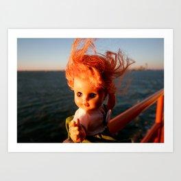 Ferry Girl Art Print