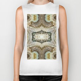 Abstract Kaleidoscope Mineral Crystal Texture Biker Tank