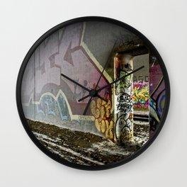 A train runs thru it Wall Clock