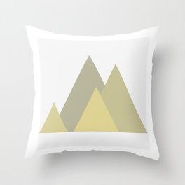 Mountains of Brass Throw Pillow