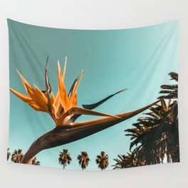 Birds of Paradise Print {1 of 3} | Palm Trees Ocean Summer Beach Teal Photography Art Wall Tapestry