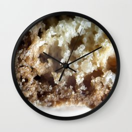 Salted caramel chocolate biscotti Wall Clock