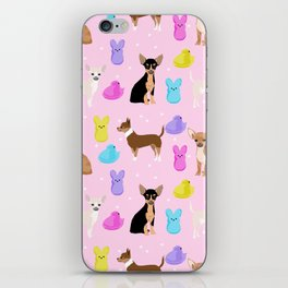 Chihuahua dog breed marshmallow peeps easter spring traditions cute dog breed gifts chihuahuas iPhone Skin