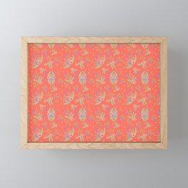 Vintage Florals - Living Coral Framed Mini Art Print