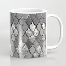 Mermaid Scales Silver Gray Glitter Glam #1 #shiny #decor #art #society6 Coffee Mug