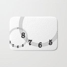 5 6 7 8 Bass Clef Bath Mat