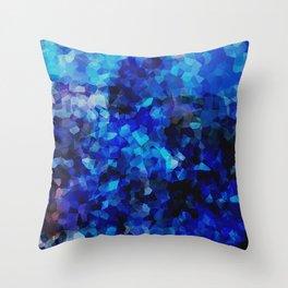 Colour Study: Blue Throw Pillow