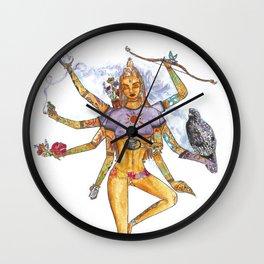 Modern Goddess Tools - Sexy Eight Armed Blonde Wall Clock