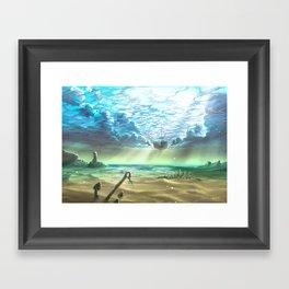 below sky level Framed Art Print